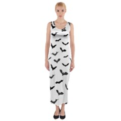 Bats Pattern Fitted Maxi Dress by Sobalvarro