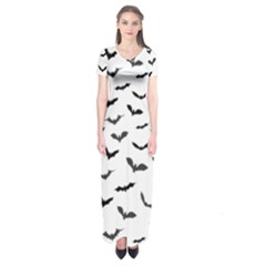 Bats Pattern Short Sleeve Maxi Dress by Sobalvarro