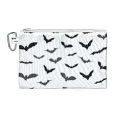 Bats Pattern Canvas Cosmetic Bag (large) by Sobalvarro