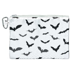 Bats Pattern Canvas Cosmetic Bag (xl) by Sobalvarro