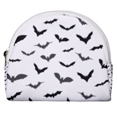 Bats Pattern Horseshoe Style Canvas Pouch by Sobalvarro