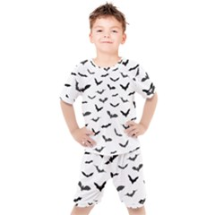 Bats Pattern Kids  Tee And Shorts Set by Sobalvarro