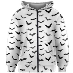 Bats Pattern Kids  Zipper Hoodie Without Drawstring by Sobalvarro