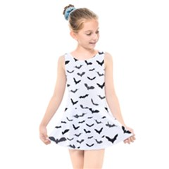Bats Pattern Kids  Skater Dress Swimsuit by Sobalvarro