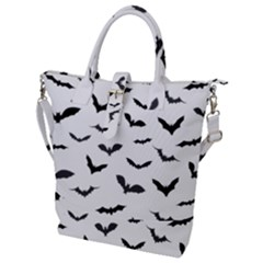 Bats Pattern Buckle Top Tote Bag by Sobalvarro