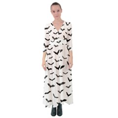 Bats Pattern Button Up Maxi Dress by Sobalvarro