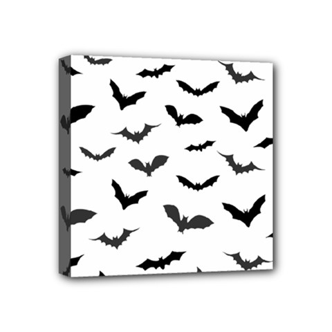 Bats Pattern Mini Canvas 4  X 4  (stretched) by Sobalvarro