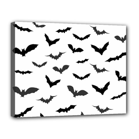 Bats Pattern Canvas 14  X 11  (stretched) by Sobalvarro