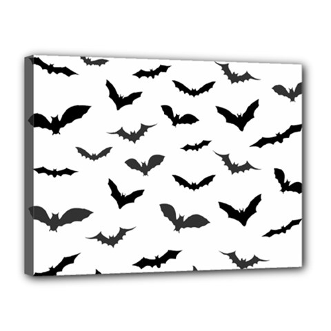 Bats Pattern Canvas 16  X 12  (stretched) by Sobalvarro