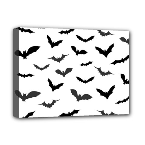 Bats Pattern Deluxe Canvas 16  X 12  (stretched)  by Sobalvarro
