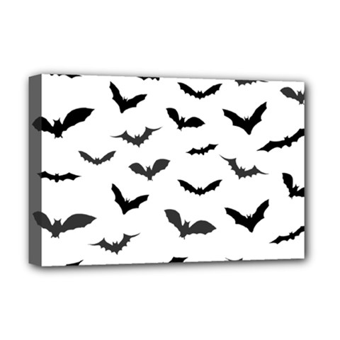 Bats Pattern Deluxe Canvas 18  X 12  (stretched) by Sobalvarro