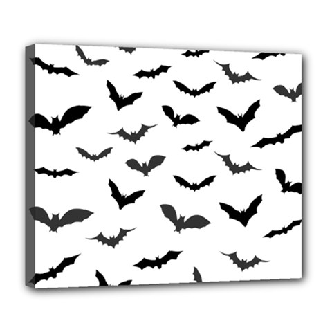 Bats Pattern Deluxe Canvas 24  X 20  (stretched) by Sobalvarro