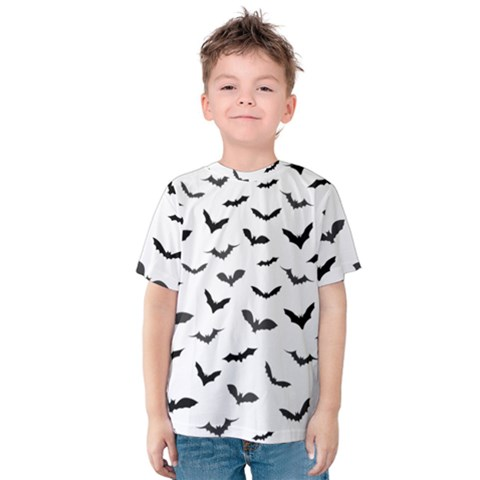 Bats Pattern Kids  Cotton Tee by Sobalvarro