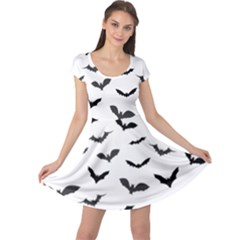 Bats Pattern Cap Sleeve Dress by Sobalvarro