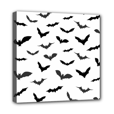 Bats Pattern Mini Canvas 8  X 8  (stretched) by Sobalvarro