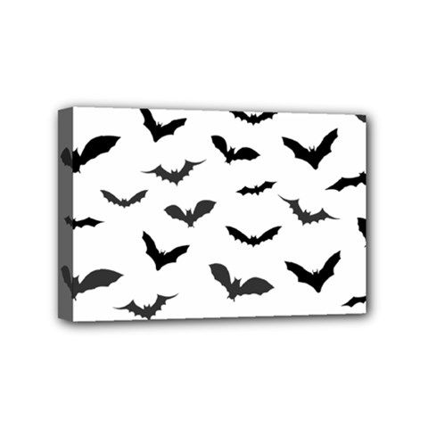 Bats Pattern Mini Canvas 6  X 4  (stretched) by Sobalvarro