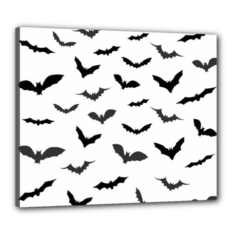 Bats Pattern Canvas 24  X 20  (stretched) by Sobalvarro