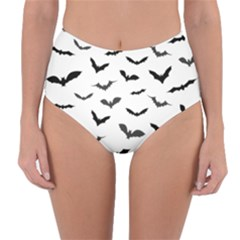 Bats Pattern Reversible High-waist Bikini Bottoms by Sobalvarro