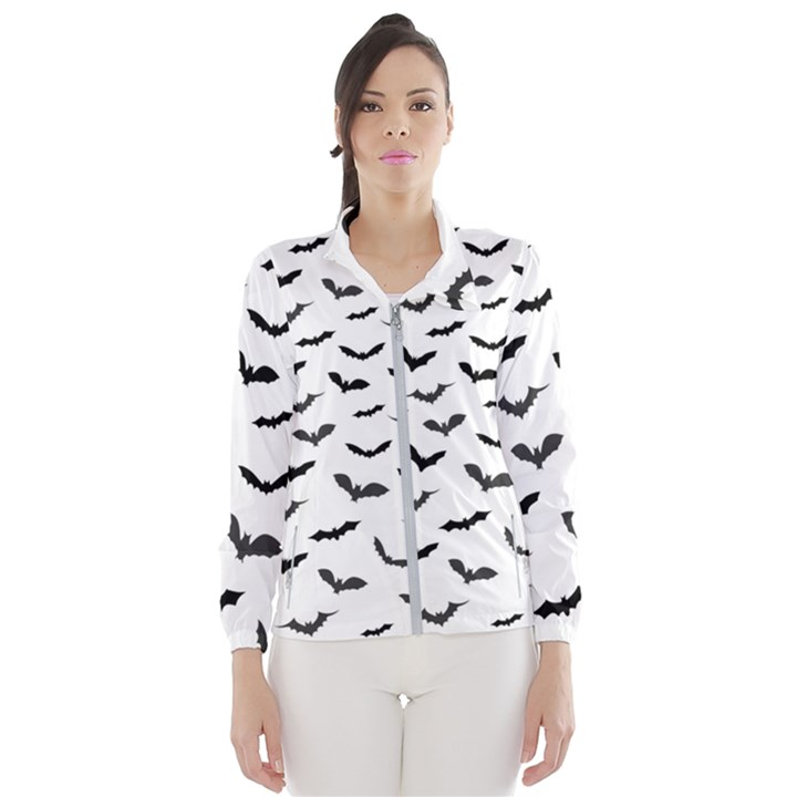 Bats Pattern Women s Windbreaker