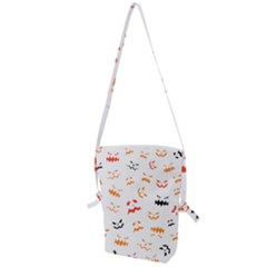 Pumpkin Faces Pattern Folding Shoulder Bag