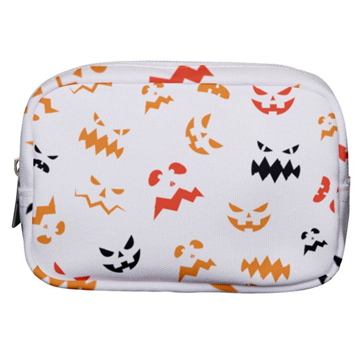 Pumpkin Faces Pattern Make Up Pouch (Small)