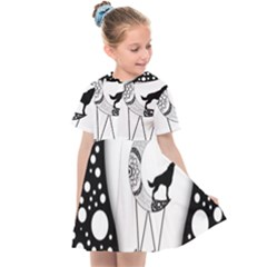Wonderful Moon With Black Wolf Kids  Sailor Dress by FantasyWorld7