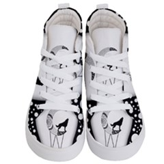 Wonderful Moon With Black Wolf Kids  Hi Top Skate Sneakers