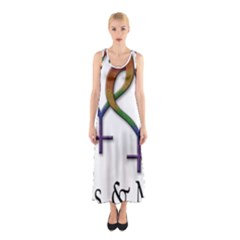 Mrs  And Mrs  Sleeveless Maxi Dress by LiveLoudGraphics