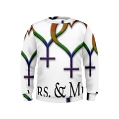Mrs  And Mrs  Kids  Sweatshirt by LiveLoudGraphics