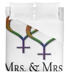 Mrs  And Mrs  Duvet Cover (queen Size) by LiveLoudGraphics
