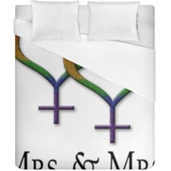 Mrs  And Mrs  Duvet Cover (california King Size) by LiveLoudGraphics