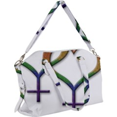 Mrs  And Mrs  Canvas Crossbody Bag by LiveLoudGraphics