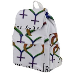 Mrs  And Mrs  Top Flap Backpack by LiveLoudGraphics