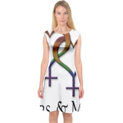 Mrs  And Mrs  Capsleeve Midi Dress by LiveLoudGraphics