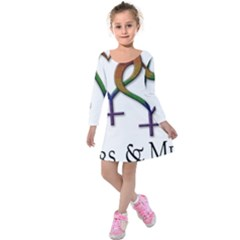 Mrs  And Mrs  Kids  Long Sleeve Velvet Dress
