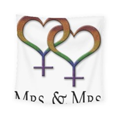 Mrs  And Mrs  Square Tapestry (small) by LiveLoudGraphics