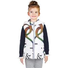 Mrs  And Mrs  Kids  Hooded Puffer Vest by LiveLoudGraphics