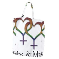 Mrs  And Mrs  Giant Grocery Tote by LiveLoudGraphics