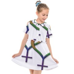 Mrs  And Mrs  Kids  Short Sleeve Shirt Dress