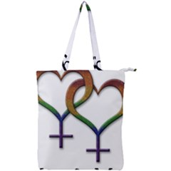 Mrs  And Mrs  Double Zip Up Tote Bag