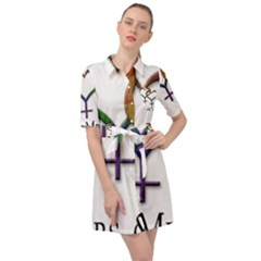 Mrs  And Mrs  Belted Shirt Dress by LiveLoudGraphics