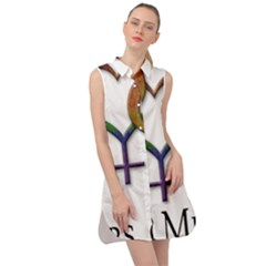 Mrs  And Mrs  Sleeveless Shirt Dress by LiveLoudGraphics