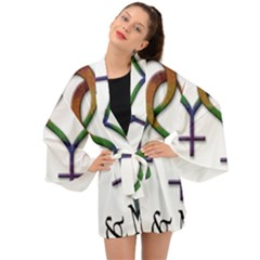 Mrs  And Mrs  Long Sleeve Kimono