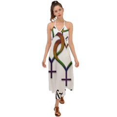 Mrs  And Mrs  Halter Tie Back Dress  by LiveLoudGraphics