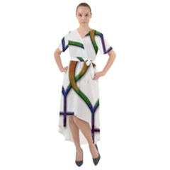 Mrs  And Mrs  Front Wrap High Low Dress by LiveLoudGraphics