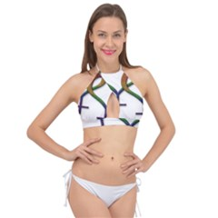Mrs  And Mrs  Cross Front Halter Bikini Top