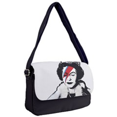 Banksy Graffiti Uk England God Save The Queen Elisabeth With David Bowie Rockband Face Makeup Ziggy Stardust Courier Bag