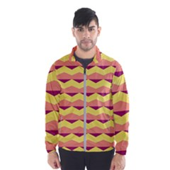 Background Colorful Chevron Men s Windbreaker