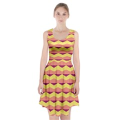 Background Colorful Chevron Racerback Midi Dress