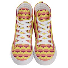 Background Colorful Chevron Women s Hi Top Skate Sneakers